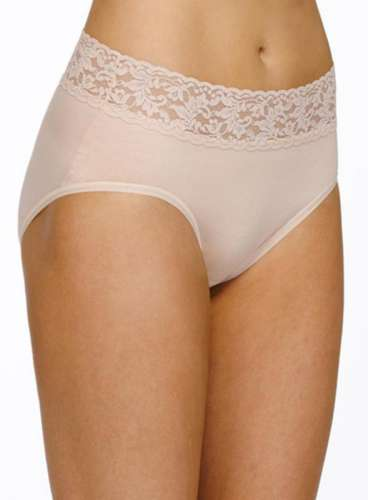 Organic cotton lace French brief $34